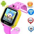 3 Г Android детский Smart Watch JM13 SOS Монитор Tracker Сигнализации камера GPS WI-FI Расположение GSM WCDMA Наручные Часы Для IOS Android ребенок