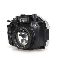 Free ship Meikon 40m/130ft Underwater Camera Diving Housing for Canon EOS M5 22mm Lens