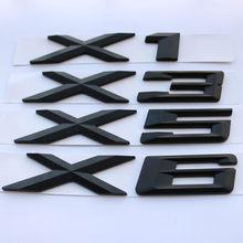 3D Prata Preto Fosco Cauda De Plástico Carta Decoração do Emblema Do Emblema da Etiqueta para a BMW X1 X3 X5 X6 E83 F25 GT acessórios Styling