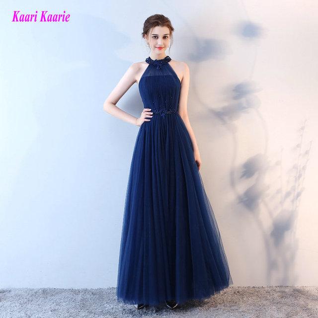 f9bb4651c الأزياء الظلام الأزرق الملكي مساء فساتين طويلة 2017 مثير عارضة مساء أثواب  الرسن الدانتيل متابعة يزين