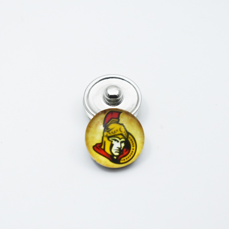 Hockey Ottawa Senators Team Sports Metal Button Snap Jewelry 18MM Fit For Button Snap Bracelet Accessories