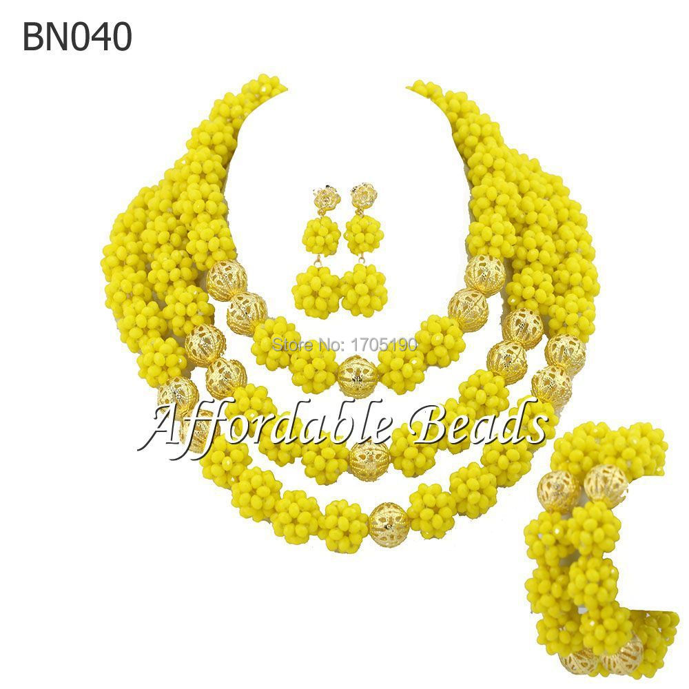 Yellow Party Jewelry Sets Terrific Wedding Party Jewelry Set Wholesale BN040