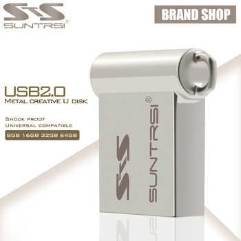 Unidad Flash USB Suntrsi 64 GB Mini USB Stick Pen Drive de alta velocidad Pendrive logotipo personalizado USB Flash capacidad Real