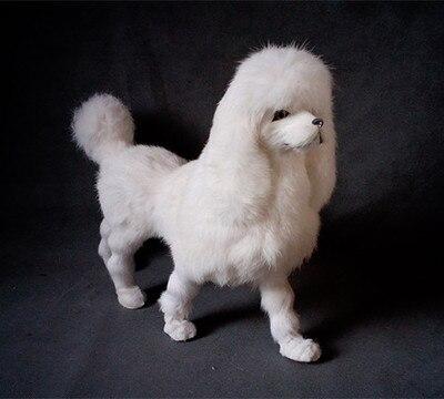 simulation white poodle model polyethylene&furs large dog model home decoration props ,model gift d375 simulation white cat model polyethylene