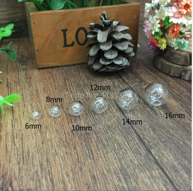 300pcs lot 9 size 6 8 10 12 14 16 18 20 25 one hole Sphere