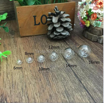 300pcs/lot 9 size 6/8/10/12/14/16/18/20/25 one hole Sphere Glass Bottle DIY Terrarium glass globe, round glass ball, glass orbs