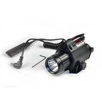 BIJIA Tactical Red Dot Laser Sight With LED Flash Light Torch Rifle Shotgun Scope 20mm Hunting Mount Rail