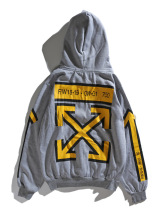 Off white hoodie brand yellow arrow couple