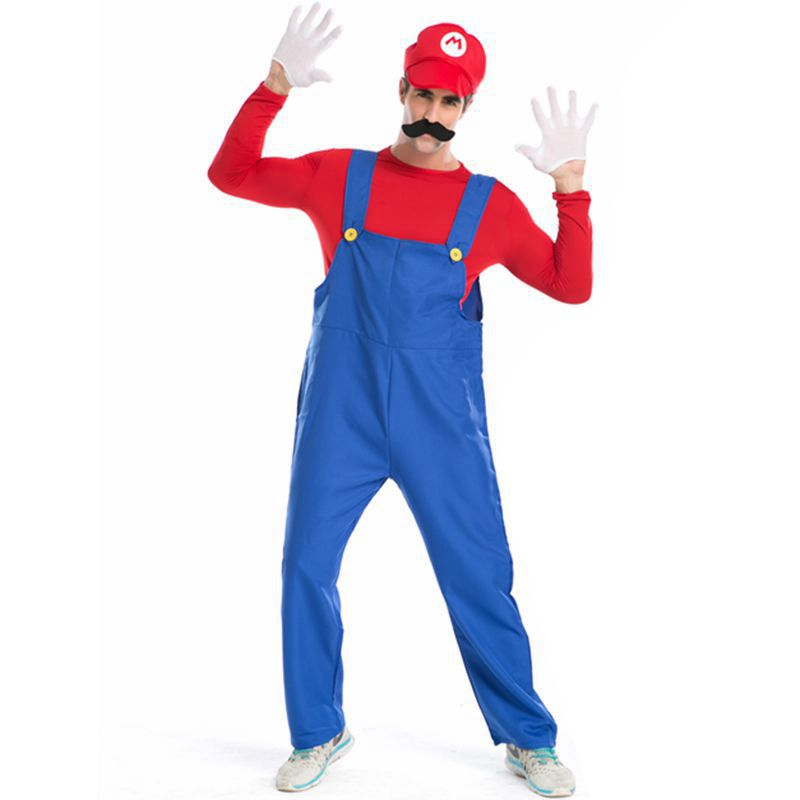 Super mario Halloween costumes for men fancy dress Party ...