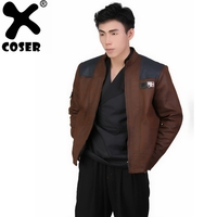 XCOSER Solo: A Star Wars Story Han Solo PU Jacket & Inner Top Cosplay Costume Set 2018 Fashion Jackets Coat & Tops Suits For Men