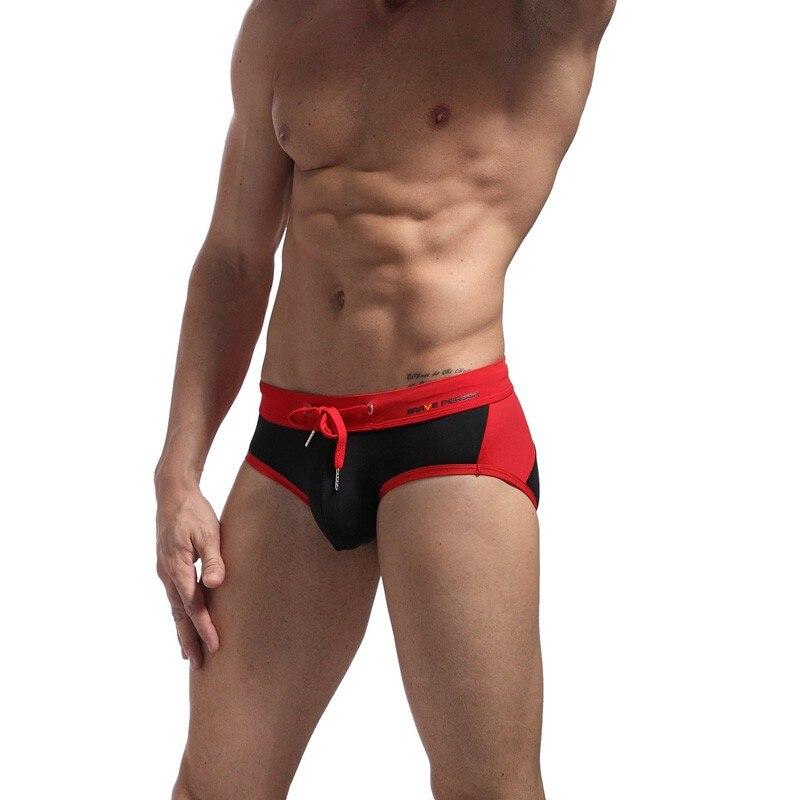 Merk Badmode Zwemslips voor mannen Gay Sexy Pouch Push-up badpak - Sportkleding en accessoires - Foto 6