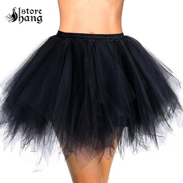 c94e6c5e48 Las mujeres corta Tutu fiesta Vintage enagua Crinolines de Ballet de la  burbuja de la falda