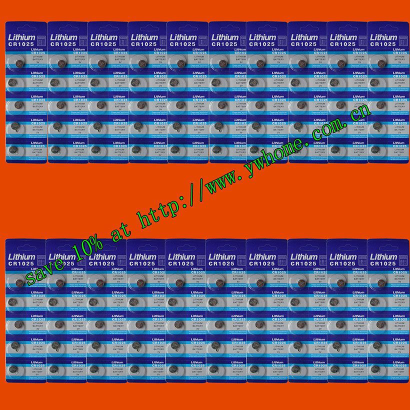 100PCS SUNMAX CR1025 LITHIUM BATTERIES 3V SHIP By Air Mail