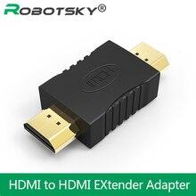Haute qualité HDMI vers HDMI mâle vers mâle connecteurs de coupleur plaqués or convertisseur dadaptateur dextension pour projecteur pour ordinateur portable HDTV