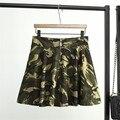3XL Más Tamaño Verano de Las Mujeres de Camuflaje Falda Mini Falda Del Tutú Bailando Falda de La Burbuja con Pantalones de Seguridad