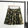 3XL Plus Size Women Summer Camouflage  Skirt Mini Tutu Skirt Dancing Bubble Skirt with Safety Pants