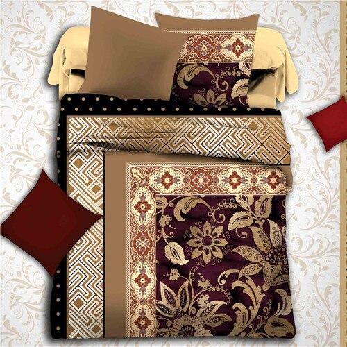 Hogar sistema del lecho 3D estilo árabe colcha queen Size bed