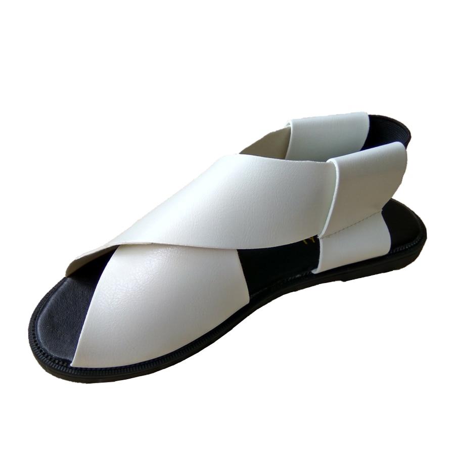 Famous Brand design Female Leather Sandals Women Flat ...