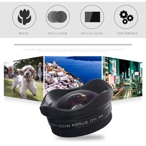 Image 2 - عدسة بصرية 2 في 1 محمولة بدقة 4K فائقة الدقة وزاوية واسعة وعدسة ماكرو 15X لهواتف iPhone وأندرويد للهواتف الذكية لا تشويه