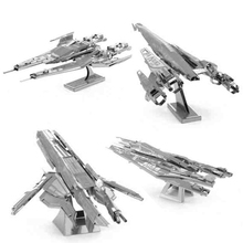 3D Metal Modelo Puzzle SX3 ALIANÇA LUTADOR/NORMANDIA SR2/TURIAN CRUISER/CRUZADOR da ALIANÇA Militar Série Adulto Crianças presente de aniversário