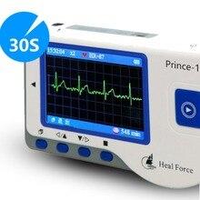 USB программное обеспечение Heal Force Prince 180B, портативное бытовое устройство для измерения ЭКГ, ЭКГ, ручной пульсометр, цветной экран для непрерывного измерения