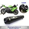 51mm universal tubo de escape da motocicleta silenciador m4 caso para caso para yamaha r6 para kawasaki m4 escape honda cbr1000