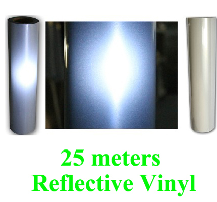 Fast Free shipping DISCOUNT 25 meters Reflective vinyl for t-shirt heat transfer heat press cutting plotter 0.5x25 meters 2017 new digital vinyl sticker cutting plotter for 720 free shipping