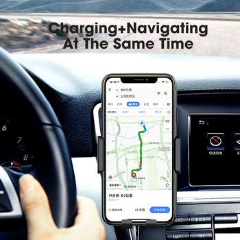 10W 15W Qi Car Wireless Charger Air Vent Mount Phone Holder Full-automatic Fast Charging For Samsung Galaxy S9 S10 iPhone X 1