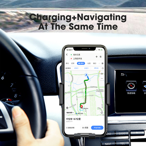 Image 2 - 10W 15W Qi Car Wireless Charger Air Vent Mount Phone Holder Full automatic Fast Charging For Samsung Galaxy S9 S10 iPhone X