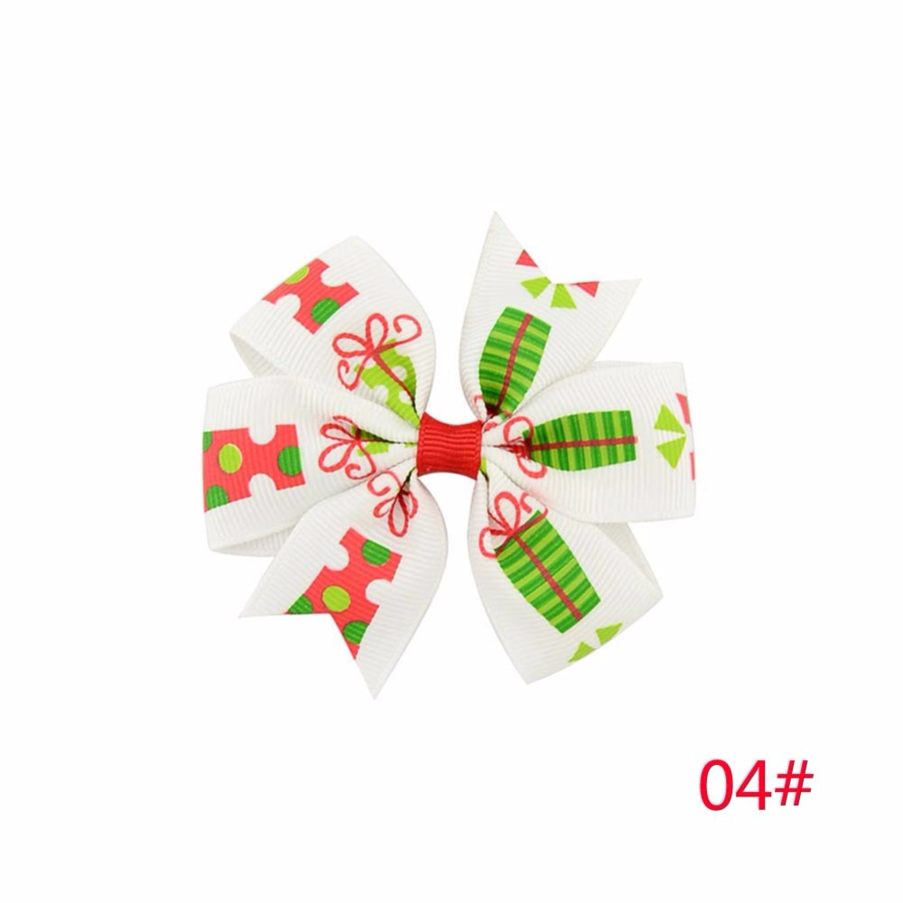 Be best hair accessories for baby - 1 Piece Christmas Snowflake Hair Bow Clips Baby Girl Hair Clips Boutique Bow Clips For Women Hair Accessories Best Holiday Gift