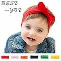 Bebé recién nacido de la muchacha 2015 conejo lazo de satén cinta de la fotografía atrezzo infantil accesorios para el cabello diadema YEME