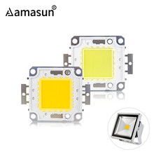 High Brightness LED Chip Beads 9-12V 10W 30-36V 20W 30W 50W 100W LED COB Chip White Warm White for DIY Spotlight Flood Light()