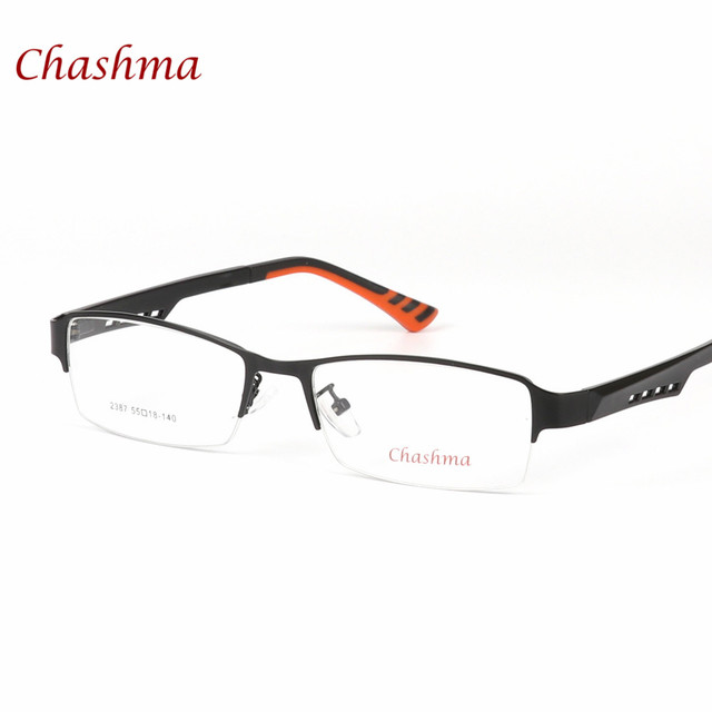 ae36c087fc2b Quality Stylish Men Eyewear Fashion Half Rimmed Stainless Frame TR 90 Arms Optical  Glasses Frame Males