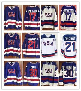 1980 Ice Hockey Jerseys White Blue Miracle On Ice Team USA 17   Jack  O Callahan 21 0a5102590