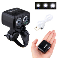 5000lm USB Rechargeable Bike Lamp 2x XM L T6 Front Handlebar Bike Light Built In Battery