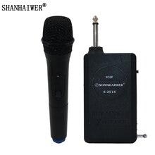 SHANHAIWER S-2015 Mini Handheld  Microphone Wireless Receiver and Transmmiter wireless collar microphone