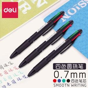 2 шт./лот многоцветные ручки 4-в-1 Выдвижная шариковая ручка 4 ярких цвета шариковая ручка лучше всего подходит для плавного письма