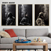 Home Decor Canvas Poster rainbow six siege Painting Living Room Wall Art Modern 5 Piece Oil Painting Picture Panel Print B-050