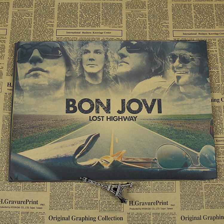 Jovi Bon Kraft Retro Retro Rock Poster European And American Music Team Star Decorative Painting Retro Poster