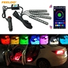 3set Car Blutooth APP Intelligent Control Decorative LED Atmosphere Neon Light RGB Car Interior Footwell Light