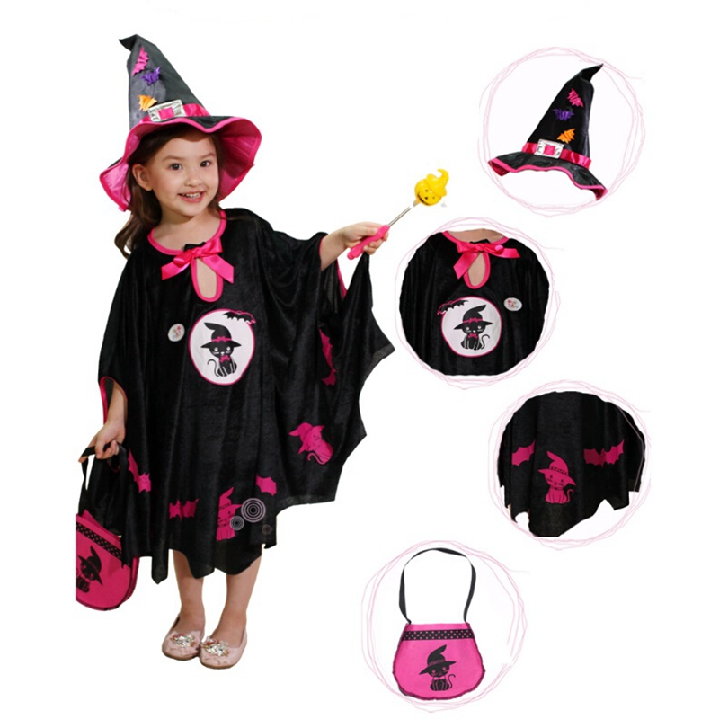 Halloween Costumes For Kids witch Cape Cloak Girl Children's Halloween Costumes