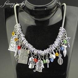 feimeng jewelry 221B Sherlock Holmes Choker Necklace John Watson Johnlock Bangle Key Door Clothes Necklace For Women Charm Gifts