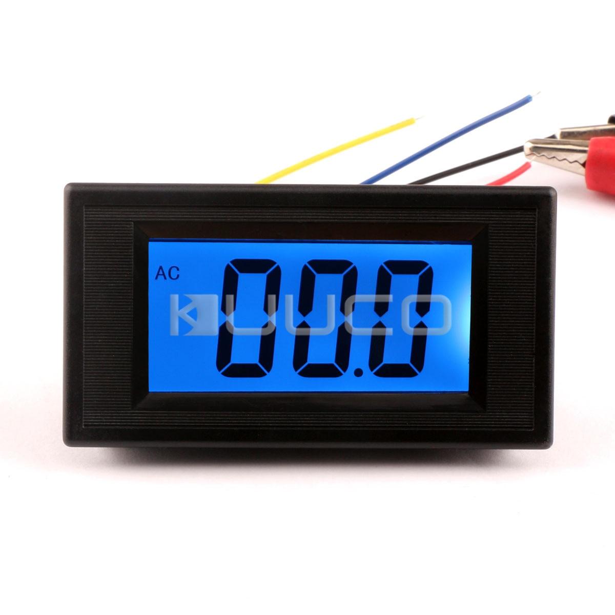 DC 0-600V 50A Voltmeter Amperemeter LCD Panel Amp Digital Volt Gauge meter 12V