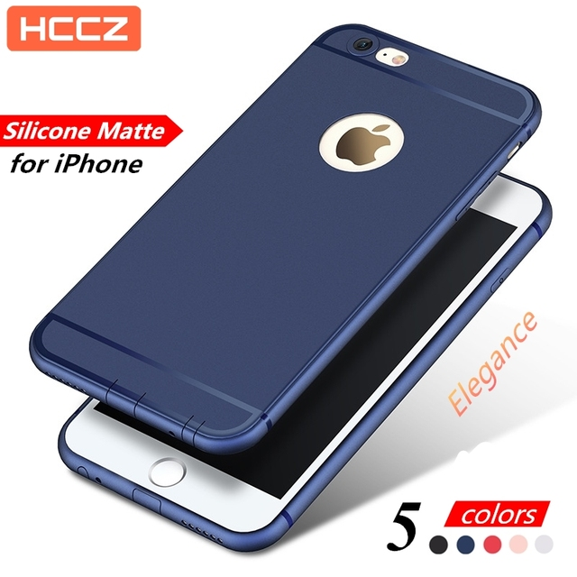HCCZ for Apple iPhone 6 6s Plus Matte Silicone Soft Case iPhone 7 Plus  iPhone X 5 5s SE Colorful Phone Case Cover With Dust Plug 29cf2b806768