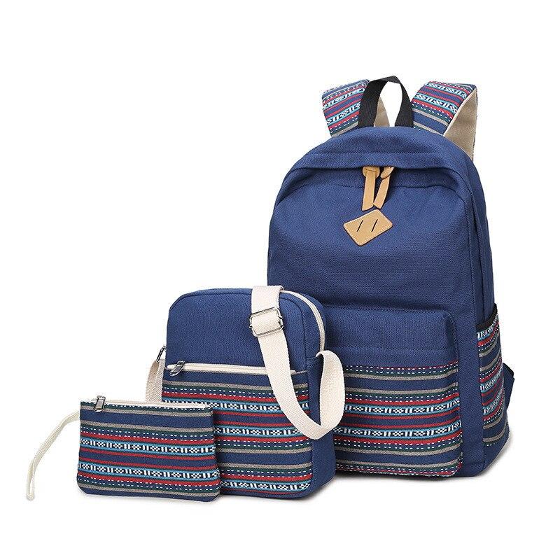Для женщин рюкзак для подростков Обувь для девочек Школьные ранцы Рюкзак Back Pack Холст с милым принтом рюкзак комплект для детей школьный