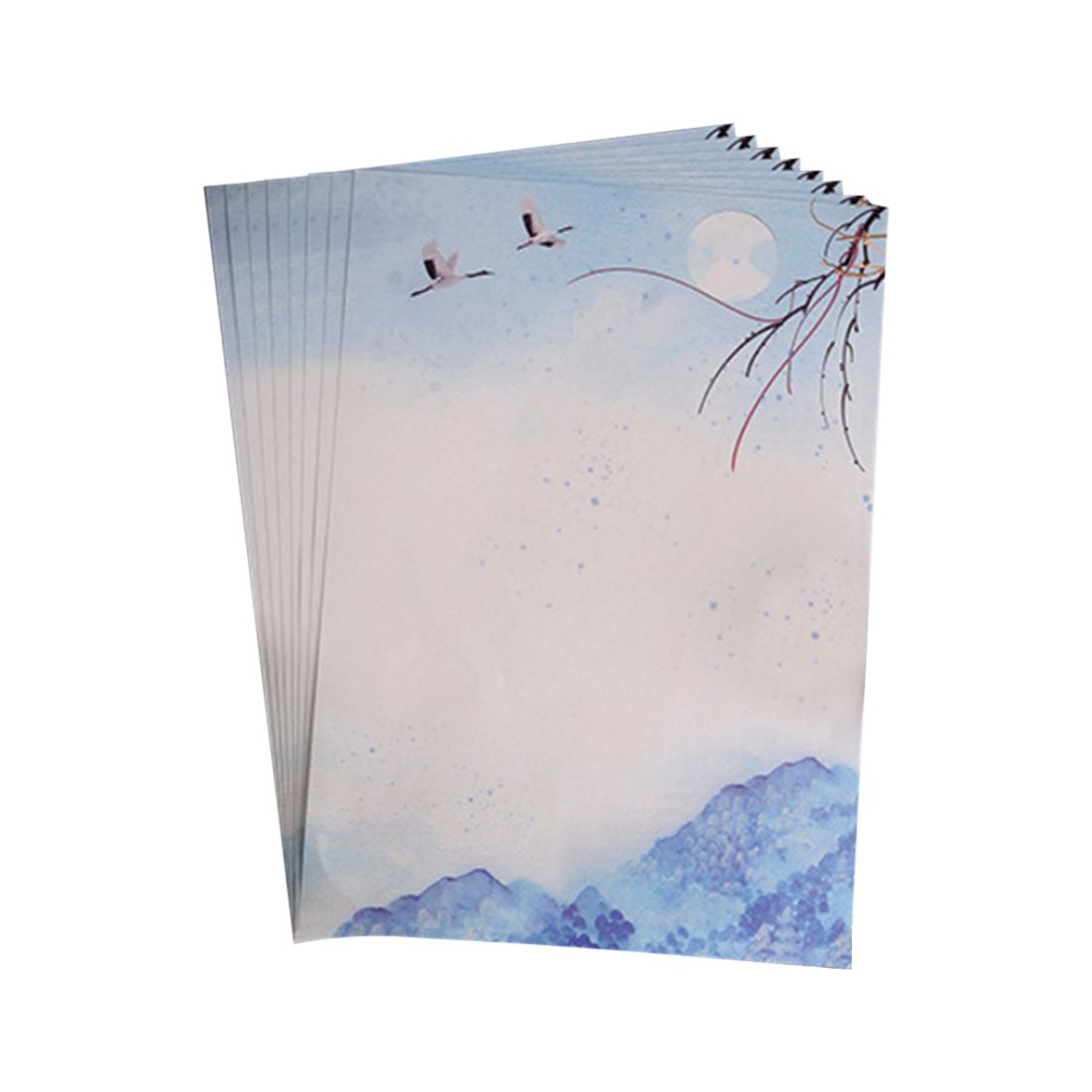 Affordable 40pcs Romantic love letter, student news envelopes, Chinese wind retro beautiful scenery envelope,blue
