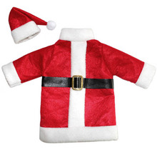 Hot Christmas Decoration For Home Red Wine Bottle Santa Claus Covers Clothes With Hats enfeites de natal FEN#