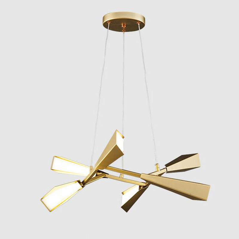 art lamps Nordic style personality led led living room bedroom hall shop branch bamboo golden pendant light wl314311