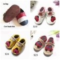 Retail Handmade Baby Leather Shoes Soft Soled Infant Prewalker for Girl Boy Toddler First Walker Children Footwear Bebe Products