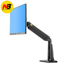 New NB F37 Aluminum Full Motion 24-37 inch Monitor Holder Gas Spring Long Arm Desktop Mount Support with USB3.0